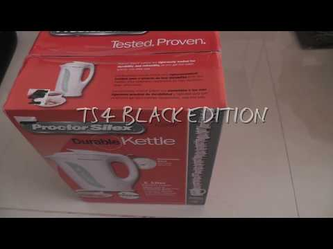 Proctor Silex 1 Liter Electric Kettle Unboxing.