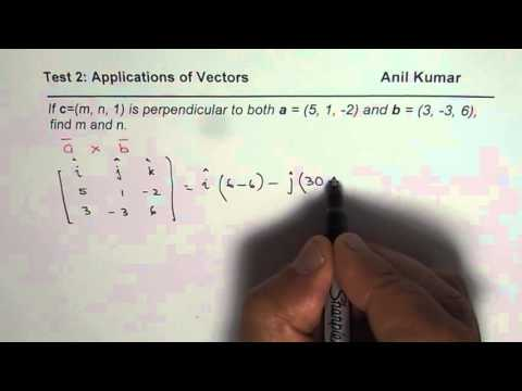 Cross Product Application to Find Perpendicular Vector