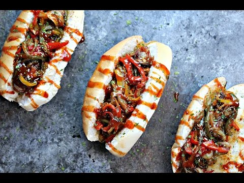 Grilled Bacon-Wrapped Beer Brats with Drunken Peppers and Onions