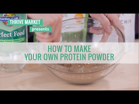 How to Make an All-Natural Protein Powder