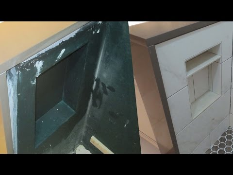 Time lapse of shower  niche construction start to finish.
