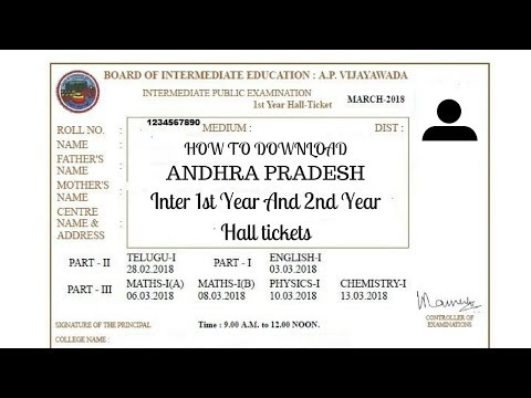 2018 Download AP Intermediate Halltickes inter 1st Year And inter 2nd year