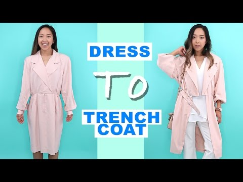 DIY Dress to Trench Coat | Thrifted Transformations Ep.54