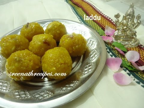Laddu - Boondi Laddu - Gram Flour Sweet Balls - Festival Recipe