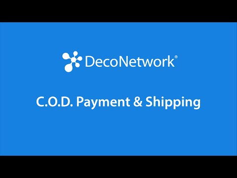 C.O.D Payment & Shipping Methods