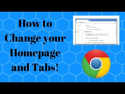 How to Change your Homepage and Tabs in Google Chrome