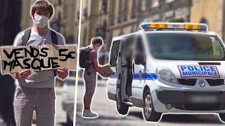 Vendre des masques à des policiers - Prank - Les Inachevés