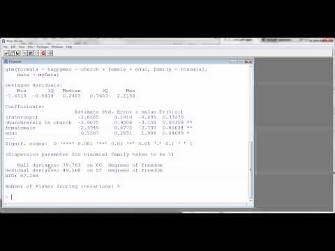 Understanding the Summary Output for a Logistic Regression in R