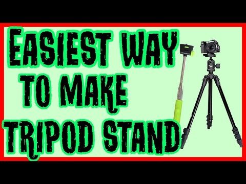 DIY Tripod Stand From a Selfie Stick For Smartphones and Camera | How to make a tripod