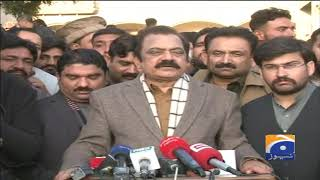 Breaking News - PML-N Leader Rana Sanaullah Khan Talks To Media In Faisalabad