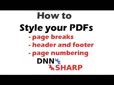 Style your PDFs with page breaks, header, footer, lines and others