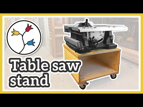 MOBILE TABLE SAW STAND – Make a table saw cart for the BOSCH GTS 10 XC