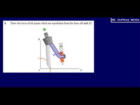 8. Locus of equidistant points between 2 lines (GCSE Maths - Edexcel Practice Tests Set 3 - 2H)