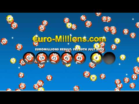 Euromillions Results for Friday 20th July 2012