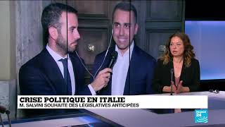 Crise politique en Italie : M.Salvini souhaite des législatives anticipées