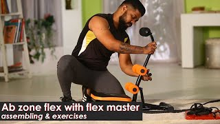 Ab zone Flex with Flex Master | Total Body Workout Equipment | Complete Home Gym | Zukazo