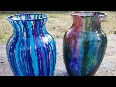 Painting Vases | Alcohol Ink & Acrylic Ink