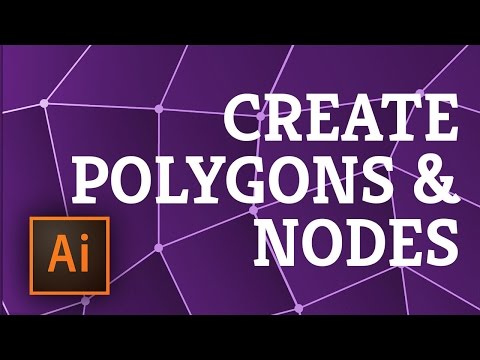 Illustrator: Create a Pattern of Polygons with Nodes in 5 minutes