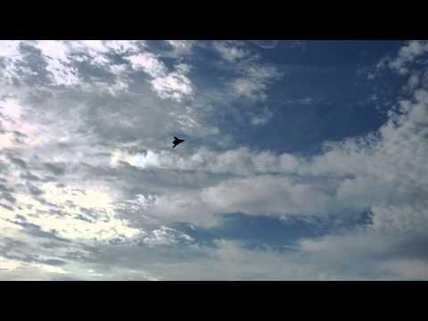 X-47B UAV Departing NASA Wallops Flight Facility