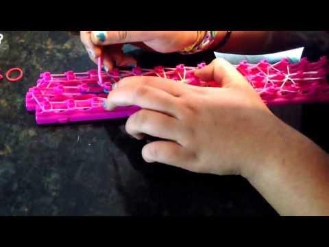 How to make a rainbow bridge crazy loom part 2