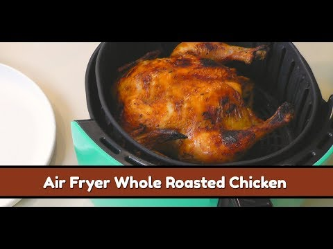 Air Fryer Whole Roasted Chicken ~ Cook's Essential Air Fryer Roast Chicken~ Amy Learns to Cook