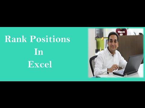 MS Excel : Rank Formula