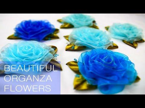 D.I.Y  Beautiful Organza Rose Tutorial  House Of Fashion