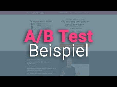 WordPress Splittest (A/B Test) Beispiel für Email Formular