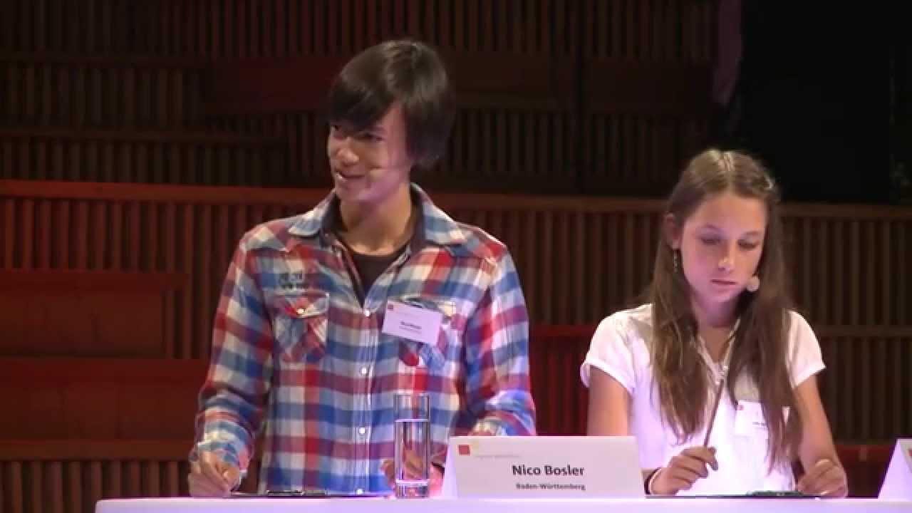 Jugend debattiert Bundesfinale 2014 - Debatte der Altersgruppe 1