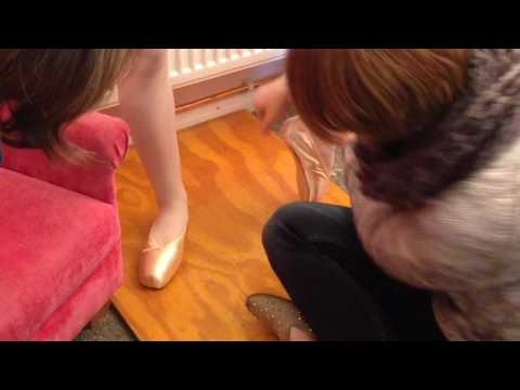 First Pointe Shoe Fitting.