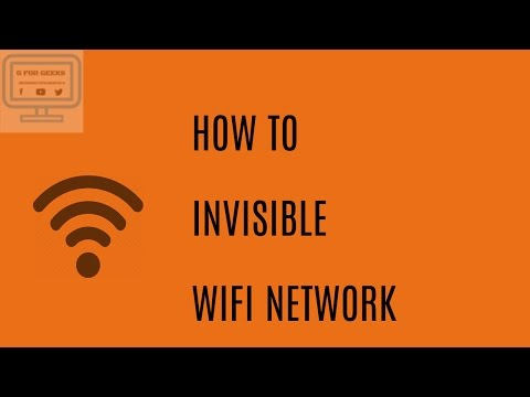 HOW TO INVISIBLE  YOUR WIFI NETWORK