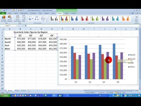 How To... Draw a Simple Bar Chart in Excel 2010