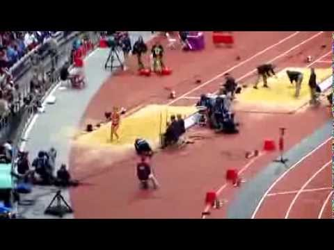 London 2012 Olympics Track and Field, Mens High Jump, Mens Discuss, Womens Long Jump