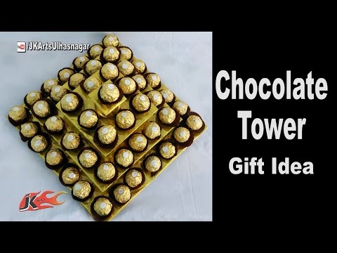 How to make a chocolatesTower | Ferrero Rocher Candy stand | festival Gift Idea | JK Arts 1187