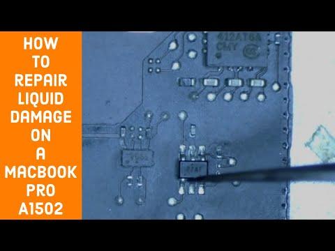Macbook Pro Liquid Damage Repair on A1502 board 820-3476