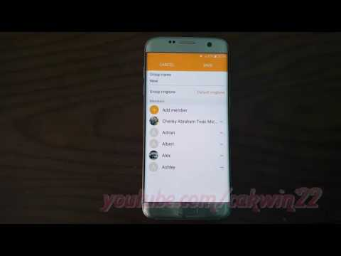 Samsung Galaxy S7 Edge : How to Change Ringtone in Contact Group (Android Marshmallow)