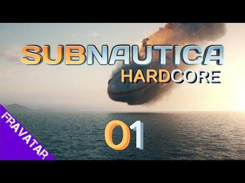 Subnautica ep01 Crash Landing Survival Hardcore Difficulty Gameplay