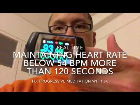 Lower and maintain heart rate below 54 BPM for more than 120 seconds