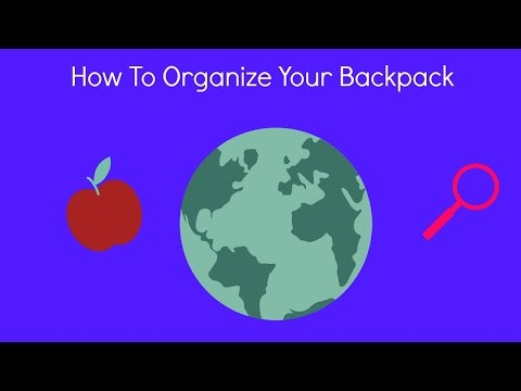 How to organize your backpack!