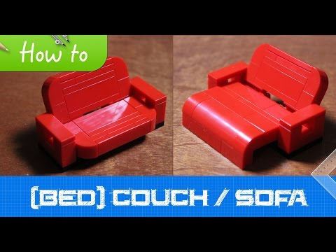 How to make a LEGO (bed)couch / sofa (MOC, Basic)