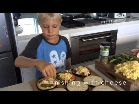Well Nourished, Kids in the Kitchen - Eggplant pizza