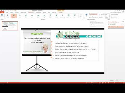 PowerPoint 2013 Bullet List Animation and Dim Effects