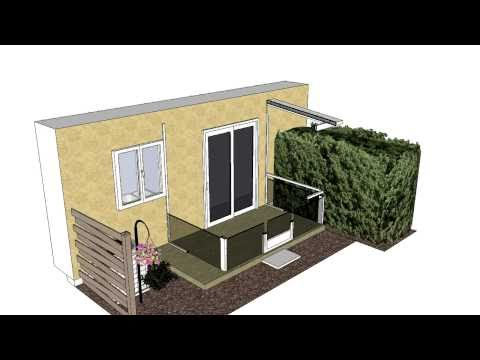 Small Composite Roof Screen Room