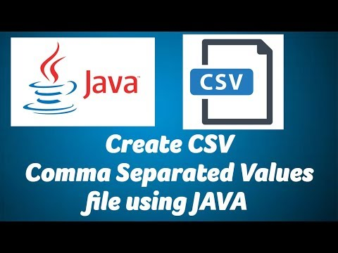 Create CSV File Using Java