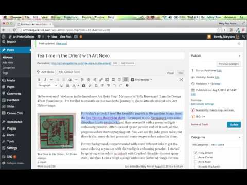 Using Yoast SEO to Set Keywords and the Meta Description for a Post