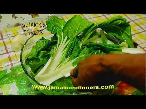 How to prepare and cook Bok Choy and Chicken. (Chinese Cabbage or Pop Choy)