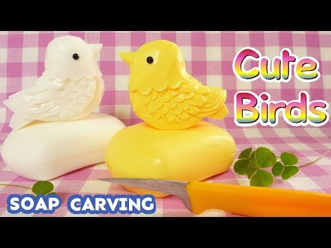 SOAP CARVING| Cute Birds | Easy and Basic | How to make | DIY | ASMR | Natural Sound |