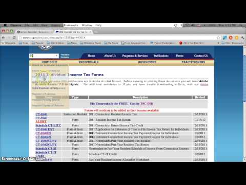 Connecticut Printable Tax Forms 2012 - Form 1040 and 1040ES Online Print Options