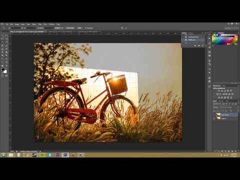 Photoshop CS6 Tutorial - 42 - Perspective Crop Tool