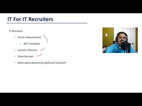 Recruiter Training - IT for IT Recruiters - Introduction (New Video 1)